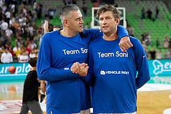 Slavko Kotnik and Vladimer Boisa during basketball event Kosarkaska simfonija - last offical basketball match of Bostjan Nachbar and Sani Becirovic, on August 30, 2018 in Arena Stozice, Ljubljana, Slovenia. Photo by Urban Urbanc / Sportida