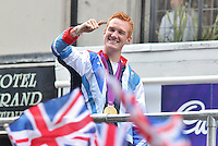 LONDON - September 10: Greg Rutherford at the London 2012 - Our Greatest Team Parade (Photo by Brett D. Cove)