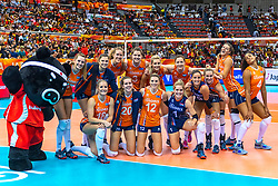 07-10-2018 JPN: World Championship Volleyball Women day 8, Nagoya<br /> Netherlands - Puerto Rico 3-0 / Team NL