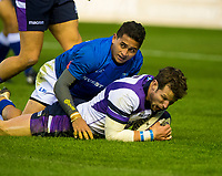 Rugby Union - 2017 Autumn Internationals - Scotland vs. Samoa<br /> <br /> Peter Horne of Scotland scores a try at Murrayfield.<br /> <br /> COLORSPORT
