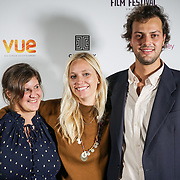London, England, UK. 28th September 2017. Ursula Grisham Director of Noble Earth and Producer Lorenzo Fiuzzi attend Raindance Film Festival Screening at Vue Leicester Square, London, UK.