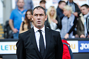 Swansea City Head Coach Paul Clement before the Premier League match between Swansea City and Watford at the Liberty Stadium, Swansea, Wales on 23 September 2017. Photo by Andrew Lewis.
