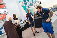 DE ROSE Alessandro ITA Italy<br /> FINA High Diving World Cup 2016<br /> Abu Dhabi Sailing and Yacht Club <br /> Corniche Breakwater -Abu Dhabi - U.A.E.<br /> Day0  26 Feb.2016<br /> Photo G.Scala/Insidefoto/Deepbluemedia