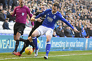 Leeds United midfielder Ezgjan Alioski (10) battles for possession with Birmingham City defender Jonathan Grounds (3) 0-0 during the EFL Sky Bet Championship match between Birmingham City and Leeds United at St Andrews, Birmingham, England on 30 December 2017. Photo by Alan Franklin.