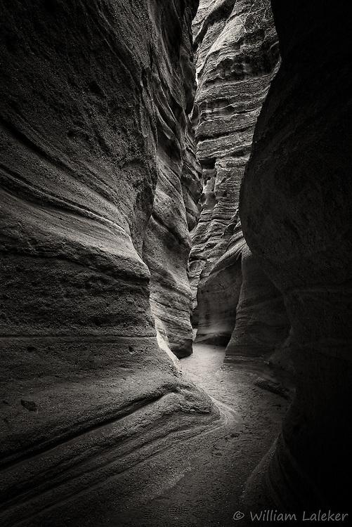 Slot canyon in Kasha-Katuwe from White Rock series