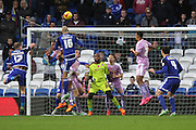 Cardiff City defender Matt Connolly scores a goal during the Sky Bet Championship match between Cardiff City and Reading at the Cardiff City Stadium, Cardiff, Wales on 7 November 2015. Photo by Jemma Phillips.