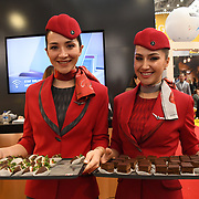 Turkish Airlines exhibition at Business Travel Show 2020 and travel technology europe on 26th February 2020, Olympia London, UK.