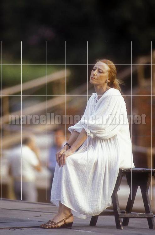 Rome, Baths of Caracalla, 1984. Russian ballet dancer Maja Plisetskaja / Roma, Terme di Caracalla 1984. La ballerina russa Maja Plissetskaja - © Marcello Mencarini