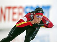 Skøyter, 9. november 2002. Verdenscupåpning, Vikingskipet, Jan Friesinger, Tyskland.
