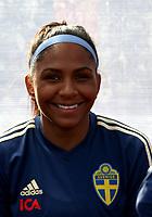 International Women's Friendly Matchs 2019 / <br /> Womens's Algarve Cup Tournament 2019 - <br /> Portugal v Sweden 2-1 ( Municipal Stadium - Albufeira,Portugal ) - <br /> Madelen Janogy of Sweden