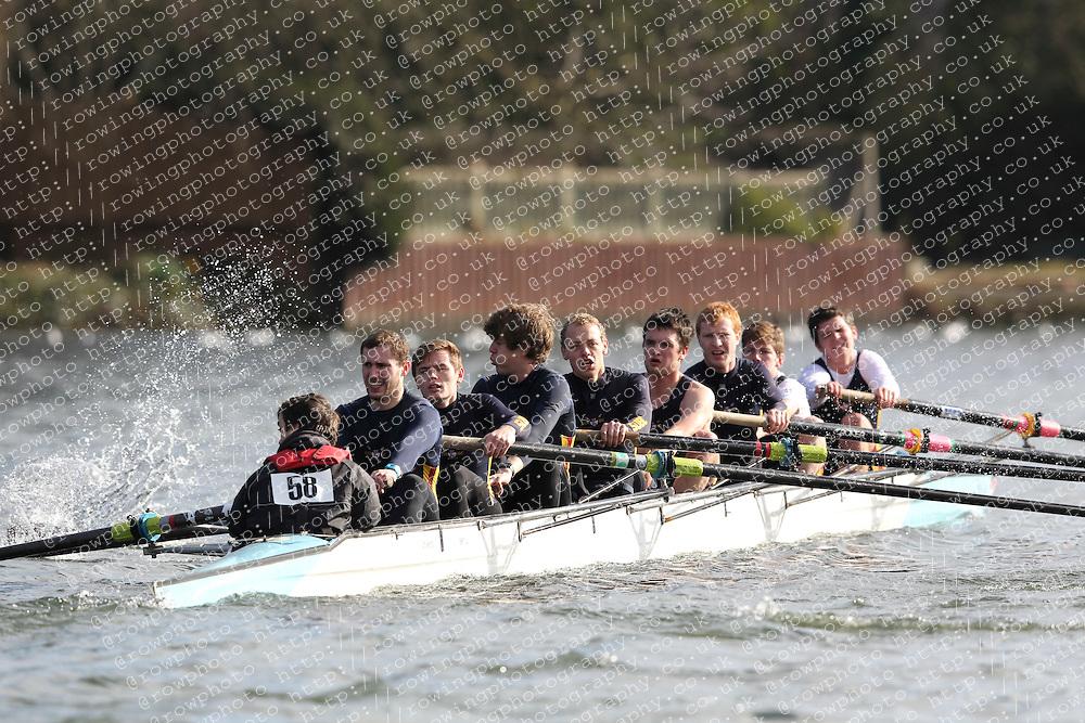 2012.02.25 Reading University Head 2012. The River Thames. Division 1. Southampton University Boat Club C IM3 8+