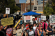 "About 1,000 demonstrators participated in Occupy Tucson at Military Plaza in Armory Park, Tucson, Arizona, USA.  The Occupy Tucson organizers created the movement in solidarity with the Occupy Wall Street movement in New York and the Occupy Together movement across the USA. ..The leaders of this movement are the everyday people participating in a movement with many de-centralized goals, with an over-arching theme of protesting government corruption from corporate money and national income disparity. We use a tool called the ""General Assembly"" to facilitate open, participatory and horizontal organizing between members of the public. We welcome people from all colors, genders and beliefs to participate in our movement. .."