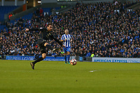 Football - 2016 / 2017 FA Cup - Third Round: Brighton and Hove Albion vs. MK Dons<br /> <br /> Darren Potter of MK Dons volleys into the floor in one of the rare MK Dons attacks at the Amex Stadium Brighton<br /> <br /> Colorsport/Shaun Boggust