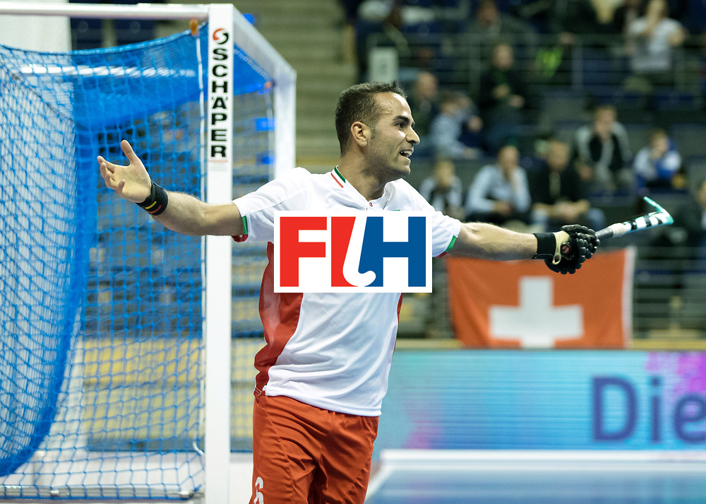 BERLIN - Indoor Hockey World Cup<br /> Men: Iran - Switzerland<br /> foto: NOORANIAN Hamid.<br /> COPYRIGHT WILLEM VERNES