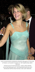 LADY ALEXANDRA GORDON-LENNOX daughter of the Earl of March, at a ball in Sussex on 15th September 2001.	OSH 66