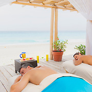 Couple relaxing after massage. Cancun.