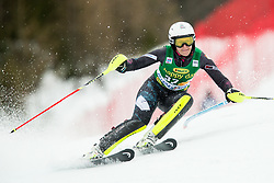 "Nevena Ignjatovic (SRB) in action during 1st Run of the FIS Alpine Ski World Cup 2017/18 7th Ladies' Slalom race named ""Golden Fox 2018"", on January 7, 2018 in Podkoren, Kranjska Gora, Slovenia. Photo by Ziga Zupan / Sportida"