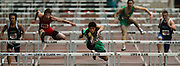05/13/2009 - Cleveland's Howard Lao (133) readies to clean the last barrier ahead of the pack during the men's 110 meter hurdles. The 5A PIL Varsity District Track Meet takes place at Lewis and Clark College....KEYWORDS:  City, Portland, high school, girls, boys, run, field, sports