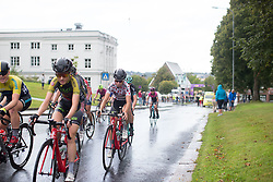Cecile Ultrup Ludwig (DEN) of BMS Birn Team rides mid-pack in the last lap of the 97,1 km second stage of the 2016 Ladies' Tour of Norway women's road cycling race on August 13, 2016 between Mysen and Sarpsborg, Norway. (Photo by Balint Hamvas/Velofocus)