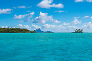 Tahaa,Bora Bora in Background, Tahaa, French Polynesia, South Pacific