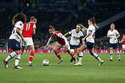 Kim Little dribbles forward during the FA Women's Super League match between Tottenham Hotspur Women and Arsenal Women FC at Tottenham Hotspur Stadium, London, United Kingdom on 17 November 2019.