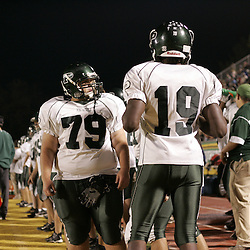 07 November 2008: Ponchatoula Green Wave DL Grant Lanier and Darvron Nora  The Ponchatoula Green Wave defeated District 7-5A rival the Hammond Tornados 34-13 at Strawberry Stadium in Hammond, LA . The Green Wave with the win clinched a spot in the 2008 playoffs.