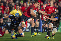 December 9, 2018 - Limerick, Ireland - CJ Stander of Munster runs with the ball during the Heineken Champions Cup Round 3 match between Munster Rugby and Castres Qlympique at Thomond Park Stadium in Limerick, Ireland on December 9, 2018  (Credit Image: © Andrew Surma/NurPhoto via ZUMA Press)