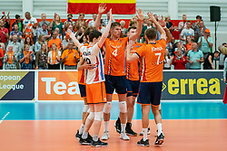 09-06-2019 NED: Golden League Netherlands - Spain, Koog aan de Zaan<br /> Fourth match poule B - The Dutch beat Spain again in five sets in the European Golden League / Thijs Ter Horst #4 of Netherlands