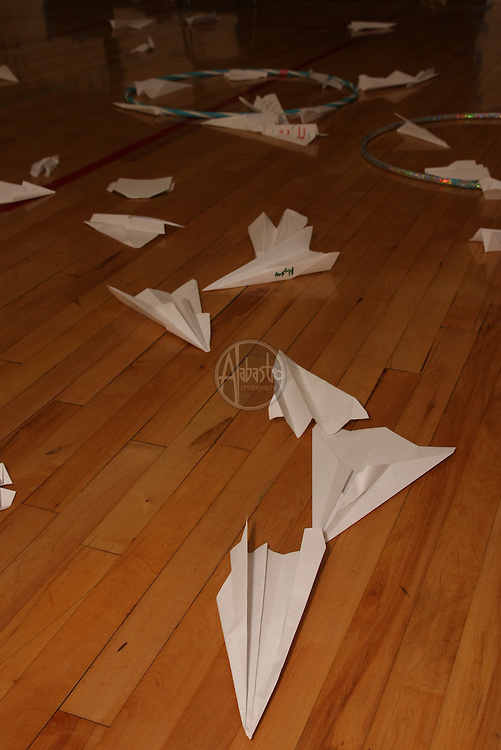 Paper airplane challenge at HIMS Carnival Night 2010