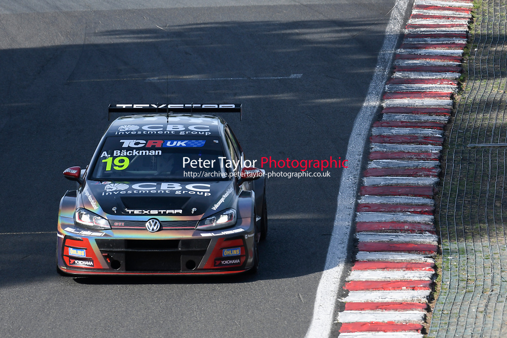#19 Andreas BACKMAN (SWE) WestCoast Racing Volkswagen Golf GTI TCR  during TCR UK Championship Race Two   as part of the BRSCC TCR UK Race Day Oulton Park  at Oulton Park, Little Budworth, Cheshire, United Kingdom. August 04 2018. World Copyright Peter Taylor/PSP. Copy of publication required for printed pictures.  Every used picture is fee-liable. http://archive.petertaylor-photographic.co.uk