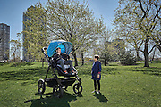 """Giant Strollers For Adults Let Parents Test Drive Before Buying<br /> <br /> Babies have it easy. They puke on people without having to apologise. They cry in public without having to explain themselves. And they get chauffeured around in strollers without being expected to map read. But thanks to Kolcraft, a US baby products company, adults can now get in on the action by taking a ride in their very own pushchair.<br /> The company has designed an oversized version of its Contours Bliss stroller to give parents a better idea of what their children experience. It's not available to buy but you can take it for a test drive. """"We created the test ride so adults could experience first-hand how each Contours Stroller is carefully designed with a baby's joy and comfort in mind,"""" said Kolcraft president Tom Koltun in a press release. Fancy a spin? The next test-drive is scheduled for June 7th at Chicago's Mary Bartelme Park. But get there early as it might be busy. And don't throw a tantrum if you don't get your turn.<br /> ©Kolcraft/Exclusivepix Media"""