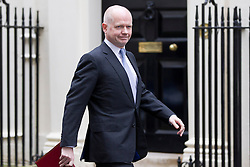 © Licensed to London News Pictures. 07/01/2013. London, UK. The Foreign Secretary William Hague is seen on Downing Street in London today (07/01/13) before the first cabinet meeting of 2013. Photo credit: Matt Cetti-Roberts/LNP