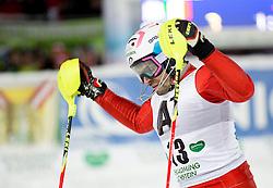 27.01.2015, Planai, Schladming, AUT, FIS Skiweltcup Alpin, Schladming, 2. Lauf, im Bild Patrick Thaler (ITA) // Patrick Thaler (ITA) during the second run of the men's slalom of Schladming FIS Ski Alpine World Cup at the Planai Course in Schladming, Austria on 2015/01/27, EXPA Pictures © 2015, PhotoCredit: EXPA/ Erwin Scheriau