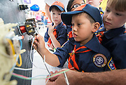 """Families participate in the Houston ISD """"When I Grow Up"""" festival, April 11, 2015."""