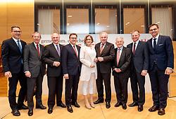 11.05.2017, Congress Centrum, Alpbach, AUT, Landeshauptleutekonferenz, Empfang, im Bild v.l. Arno Kompatscher (LH Südtirol, Italien), LH Wilfried Haslauer (SBG), LH Erwin Pröll (NÖ), LH Günther Platter (TI), LH Johanna Mikl-Leitner (NÖ), LH Hermann Schützenhöfer (ST), LH Josef Pühringer (OÖ), LH Thomas Stelzer (OÖ), LH Markus Wallner (VLB) alle ÖVP // during the Governors conference of the Austrian Provinces at Congress Centrum in Alpbach, Austria on 2017/05/11. EXPA Pictures © 2017, PhotoCredit: EXPA/ Johann Groder