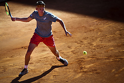April 30, 2018 - Estoril, Portugal - Alex de Minaur from Australia returns a ball to Gastao Elias from Portugal during the Millennium Estoril Open CCC round tennis tournament in Estoril, outskirts of Lisbon, Portugal on April 30, 2018  (Credit Image: © Carlos Costa/NurPhoto via ZUMA Press)