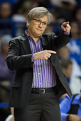 Tennessee head coach Holly Warlick gives directions in the first half.<br /> <br /> The University of Kentucky hosted the University of Tennessee, Monday, Jan. 25, 2016 at Memorial Coliseum in Lexington .