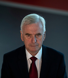 © Licensed to London News Pictures. 24/09/2018. Liverpool, UK. Shadow Chancellor John McDonnell MP gives a TV interview at the Labour Party Conference 2018. Photo credit: Rob Pinney/LNP