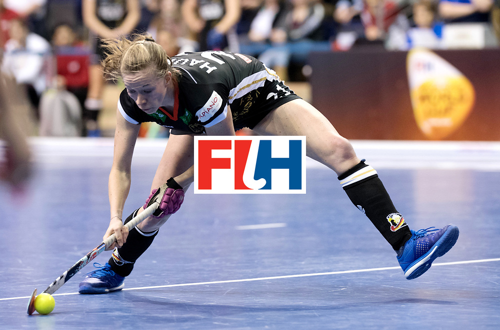 BERLIN - Indoor Hockey World Cup<br /> Women: Germany  - Australia<br /> foto: Franzisca Hauke.<br /> WORLDSPORTPICS COPYRIGHT FRANK UIJLENBROEK