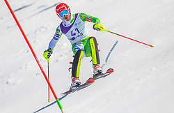 41# Kranjec Zan from Slovenia during the slalom of National Championship of Slovenia 2019, on March 24, 2019, on Krvavec, Slovenia. Photo by Urban Meglic / Sportida