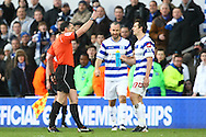 Picture by Paul Chesterton/Focus Images Ltd.  07904 640267.02/01/12.Joey Barton of QPR is sent off by Referee Neil Swarbrick after a clash with Norwich's Bradley Johnson during the Barclays Premier League match at Loftus Road Stadium, London.