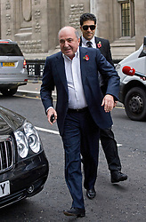 © London News Pictures. 31/10/2011. London, UK. Russian Oligarch Boris Berezovsky arriving at The Royal Courts Of Justice today (31/10/2011).  Boris Berezovsky has started a £3.2 billion lawsuit at the High Court in a battle over Abramovich's £10.3 billion fortune. Photo credit: Ben Cawthra/LNP