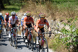 Karol-Ann Canuel (Boels Dolmans) sets a high tempo in the foothills at Giro Rosa 2016 - Stage 6. A 118.6 km road race from Andora to Alassio, Italy on July 7th 2016.
