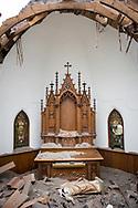 After the tornado, Zion Lutheran Church, Delmont, South Dakota.