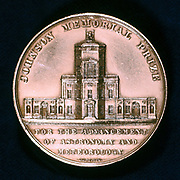Radcliffe Observatory, Oxford, 1862.  Founded in 1772, this representation is from the reverse of the medal of the Johnson Memorial Prize for the advance of astronomy and meteorology founded in 1862 in memory of the astronomer Manuel John Johnson (1805-1859) who was keeper of the observatory (1839-1859).