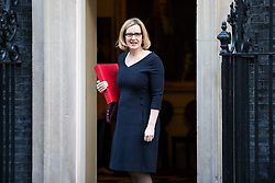 © Licensed to London News Pictures. 16/01/2018. London, UK. Home Secretary Amber Rudd arrives on Downing Street for the weekly Cabinet meeting. Photo credit: Rob Pinney/LNP