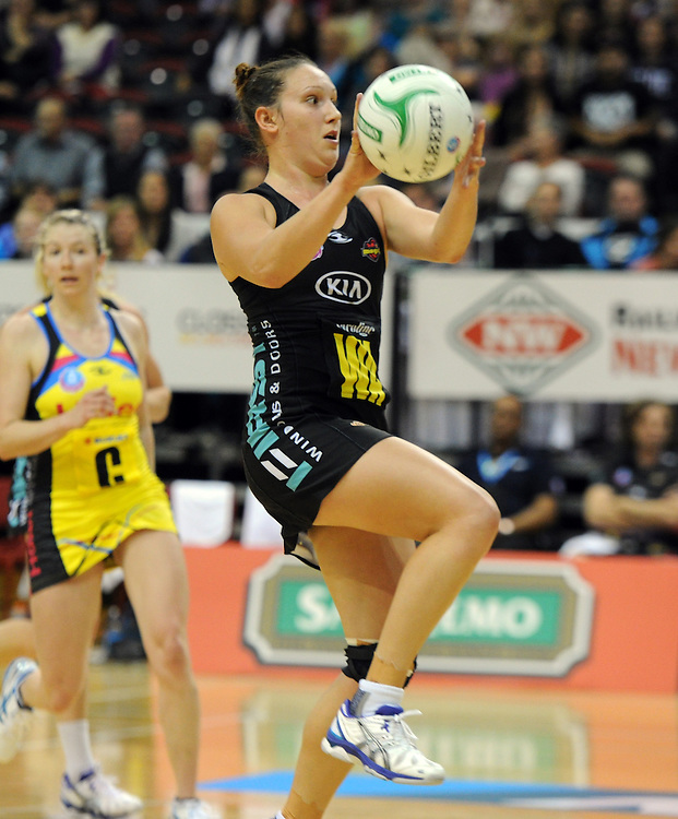 m12 Magics' Khao Watts against the Pulse in the ANZ Netball Champions at TSB Stadium, Wellington, New Zealand, Sunday, April 28, 2013. Credit:SNPA / Ross Setford