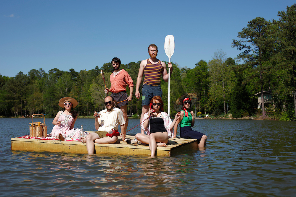 Lost In The Trees - Ari Picker, Drew Anagnost,.Mark Daumen, Leah Gibson, Emma Nadeau and .Jenavieve Varga. Photo by D.L. Anderson, April 9, 2010..