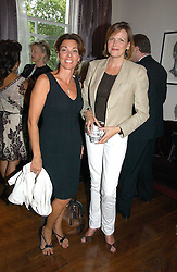 Left to right, ELLEN SPAN and the COUNTESS OF WOOLTON at a party to launch her atest collection held at Morton's, Berkeley Square, Lonon W1 on 11th September 2006.<br /><br />NON EXCLUSIVE - WORLD RIGHTS