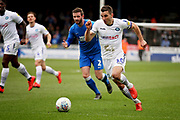 Wycombe midfielder Matthew Bloomfield (10) driving forward during the EFL Sky Bet League 1 match between Peterborough United and Wycombe Wanderers at London Road, Peterborough, England on 2 March 2019.